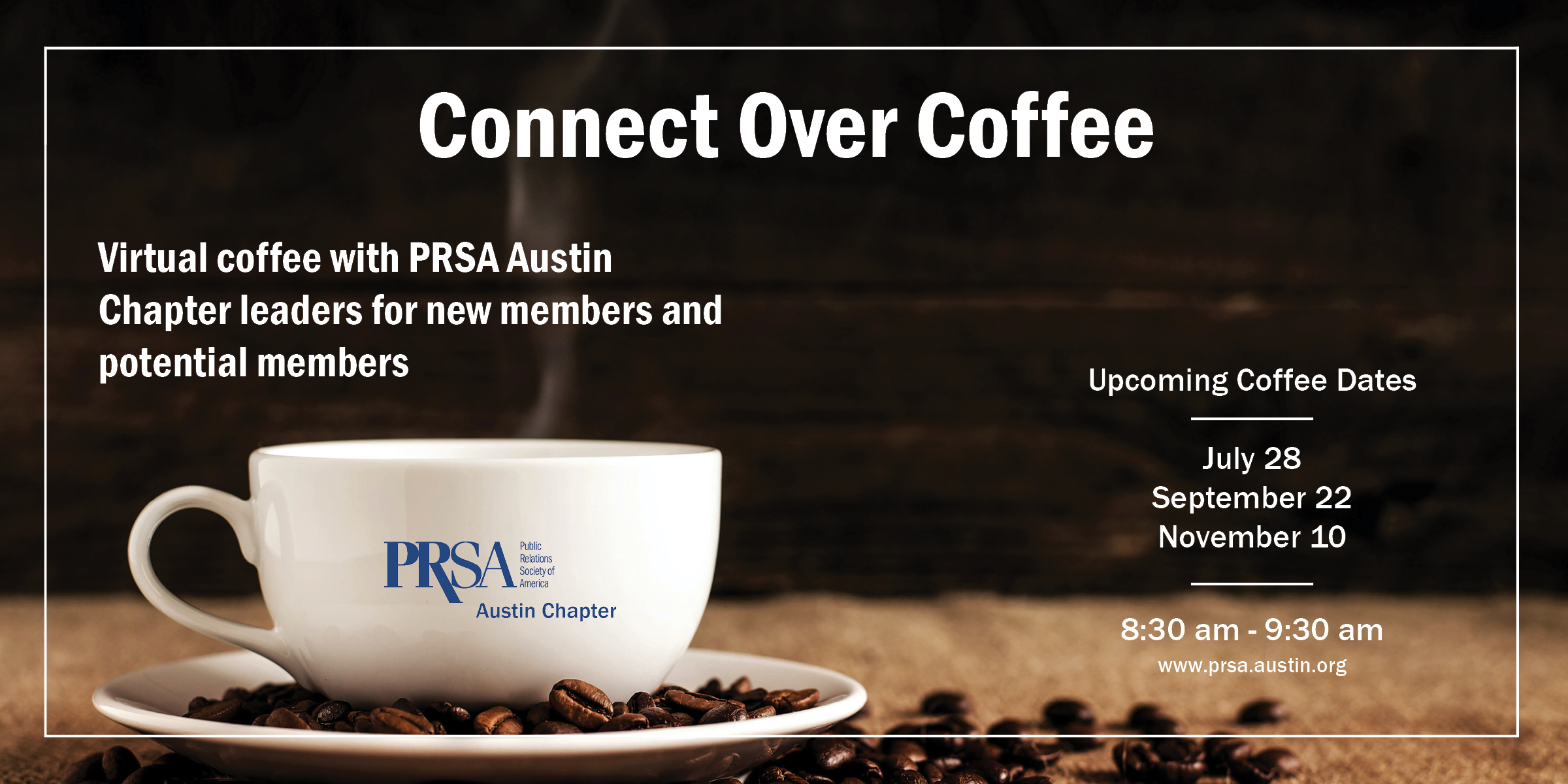 Connect Over Coffee Promotional Graphic